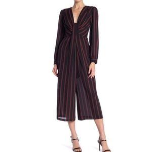 Free Press Striped Crop Jumpsuit NWOT